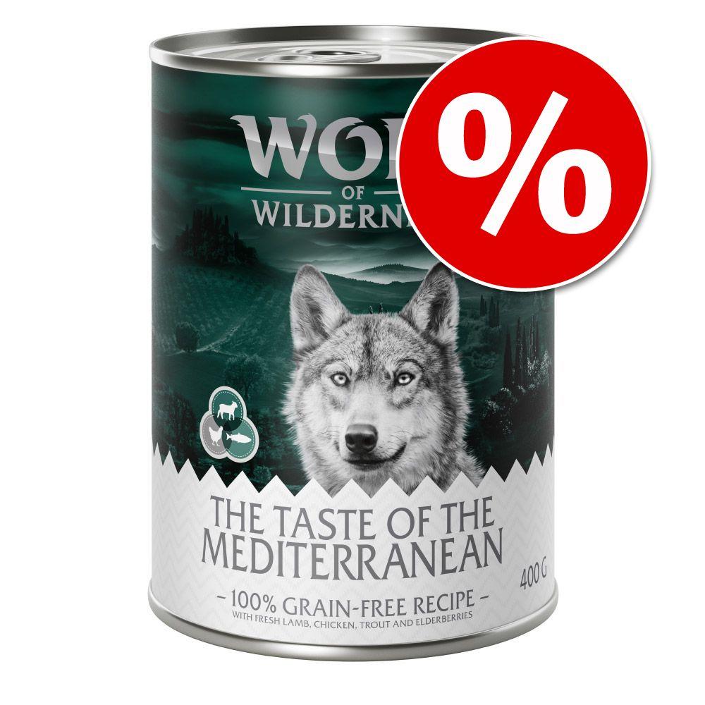 Ekonomipack: Wolf of Wilderness ''''The Taste Of'''' 12 x 400 g - The Taste Of The Mediterranean