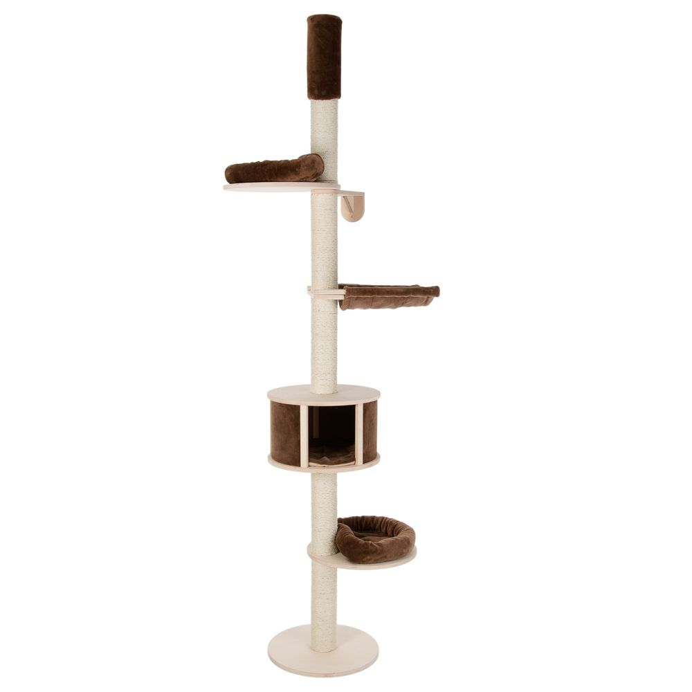 Natural Paradise Ceiling Cat Tree XL Compact Chocolate: H 248-270cm