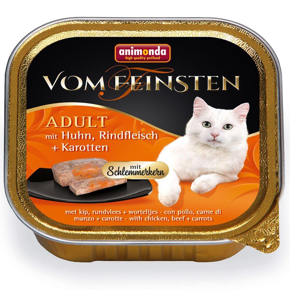 Animonda vom Feinsten Adult med gourmetfyllning 6 x 100 g Kyckling, nötkött & morötter
