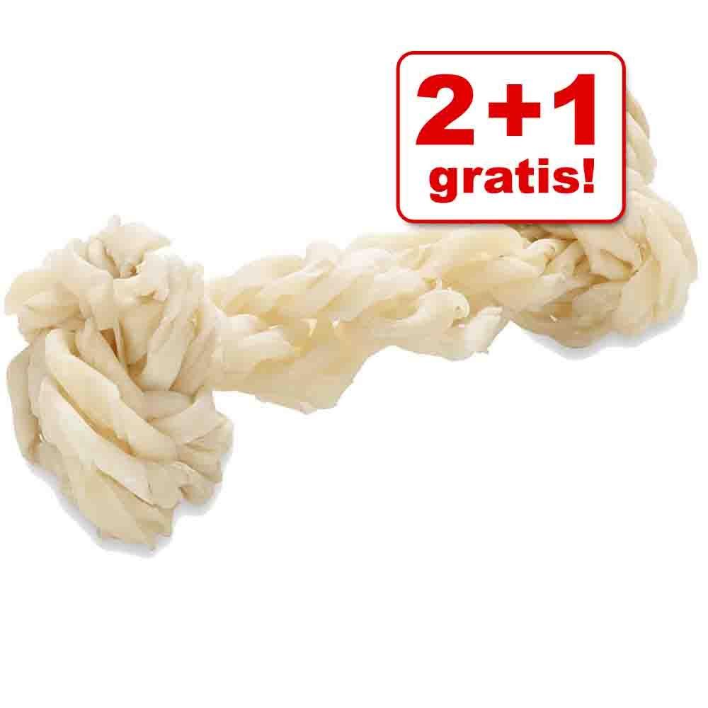 Image of 2 + 1 gratis! 3 pz x 17 cm Ossi Barkoo - Ossi attorcigliati in pelle di maiale