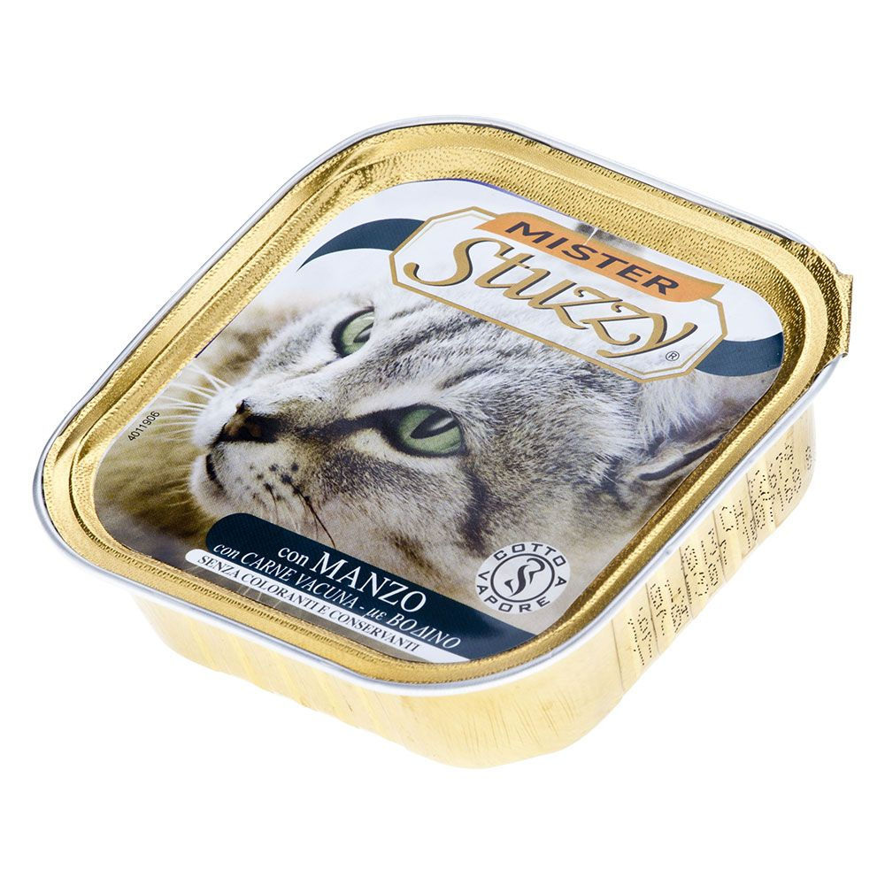 Mister Stuzzy Cat Food Trays 6 x 100g - Beef