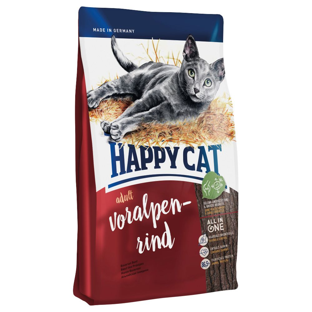 Happy Cat Adult Beef Dry Food - 4kg