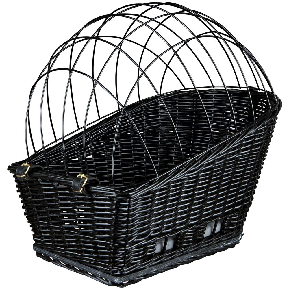 Trixie Rear-Mounted Black Bicycle Dog Basket 49x35x55cm