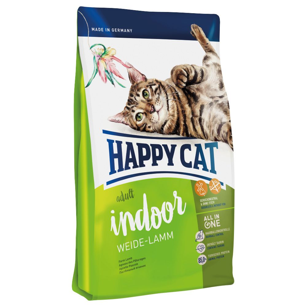 Happy Cat Indoor Adult, z jagnięciną - 4 kg