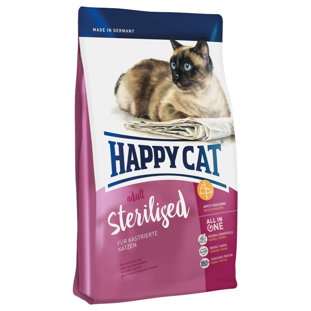 INOpets.com Anything for Pets Parents & Their Pets Happy Cat Adult Sterilised Dry Food - 1.4kg
