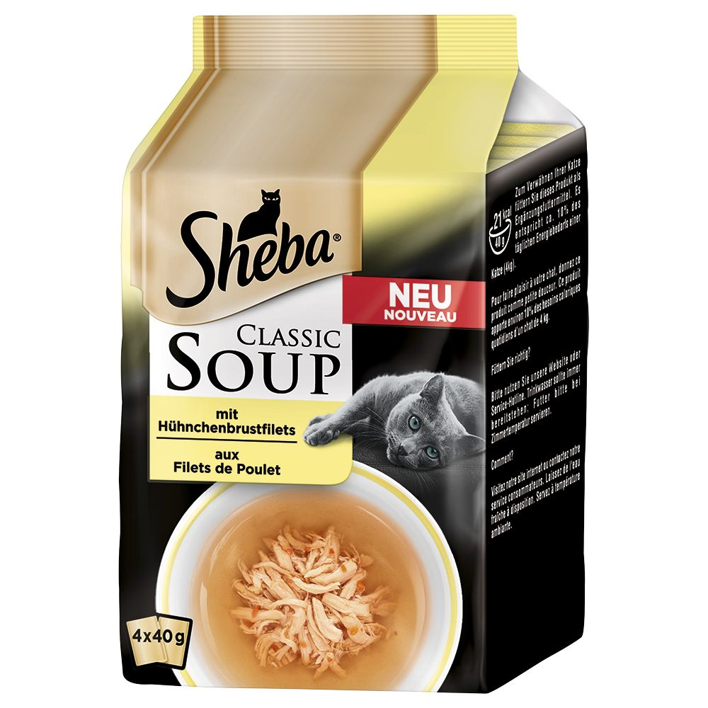 Sheba Classic Soup Multipack 4 x 40g - Chicken Breast