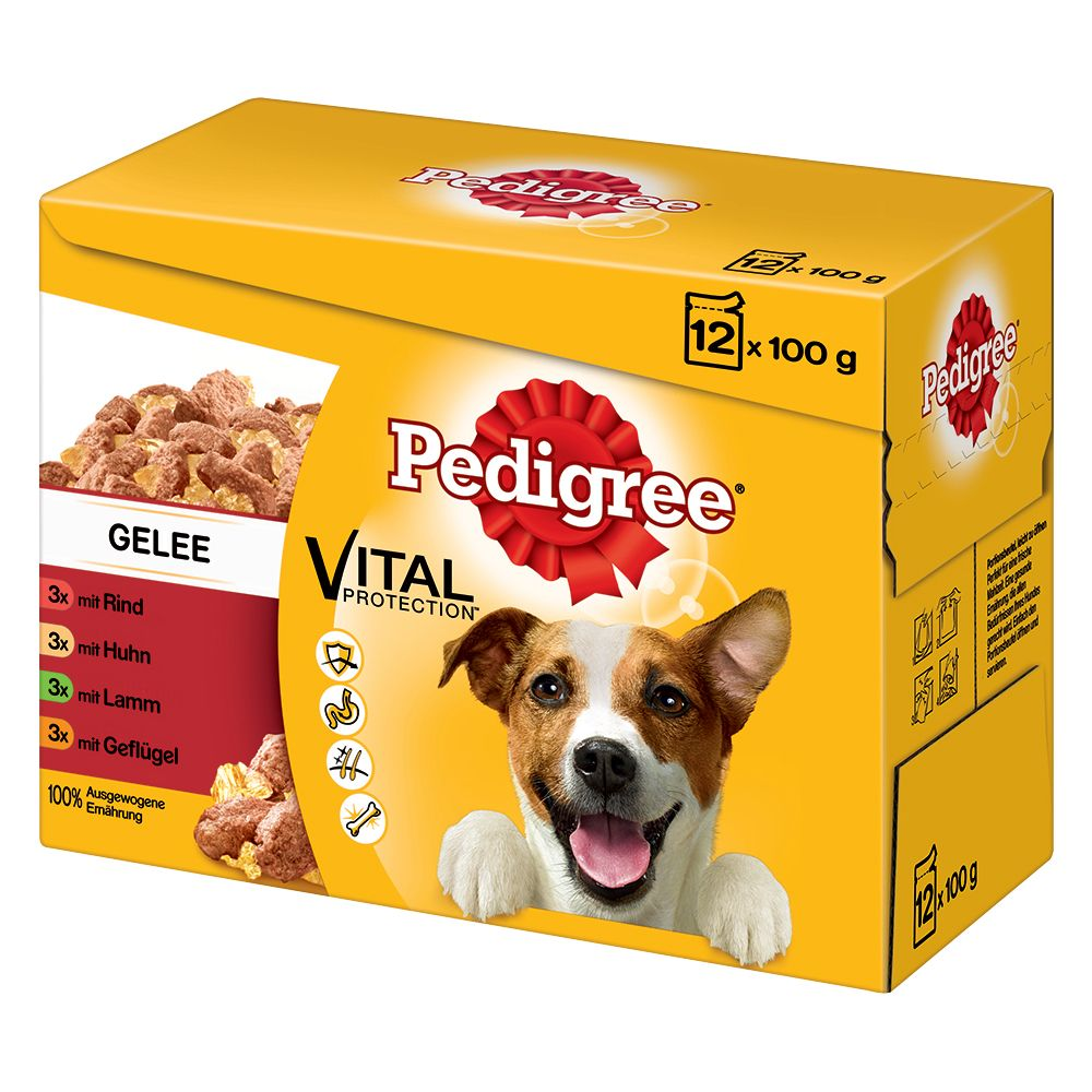 12 x 100g Pedigree Wet Dog Food Multipack Pouches - 20% Off!* - Junior in Jelly Multipack (12 x 100g)