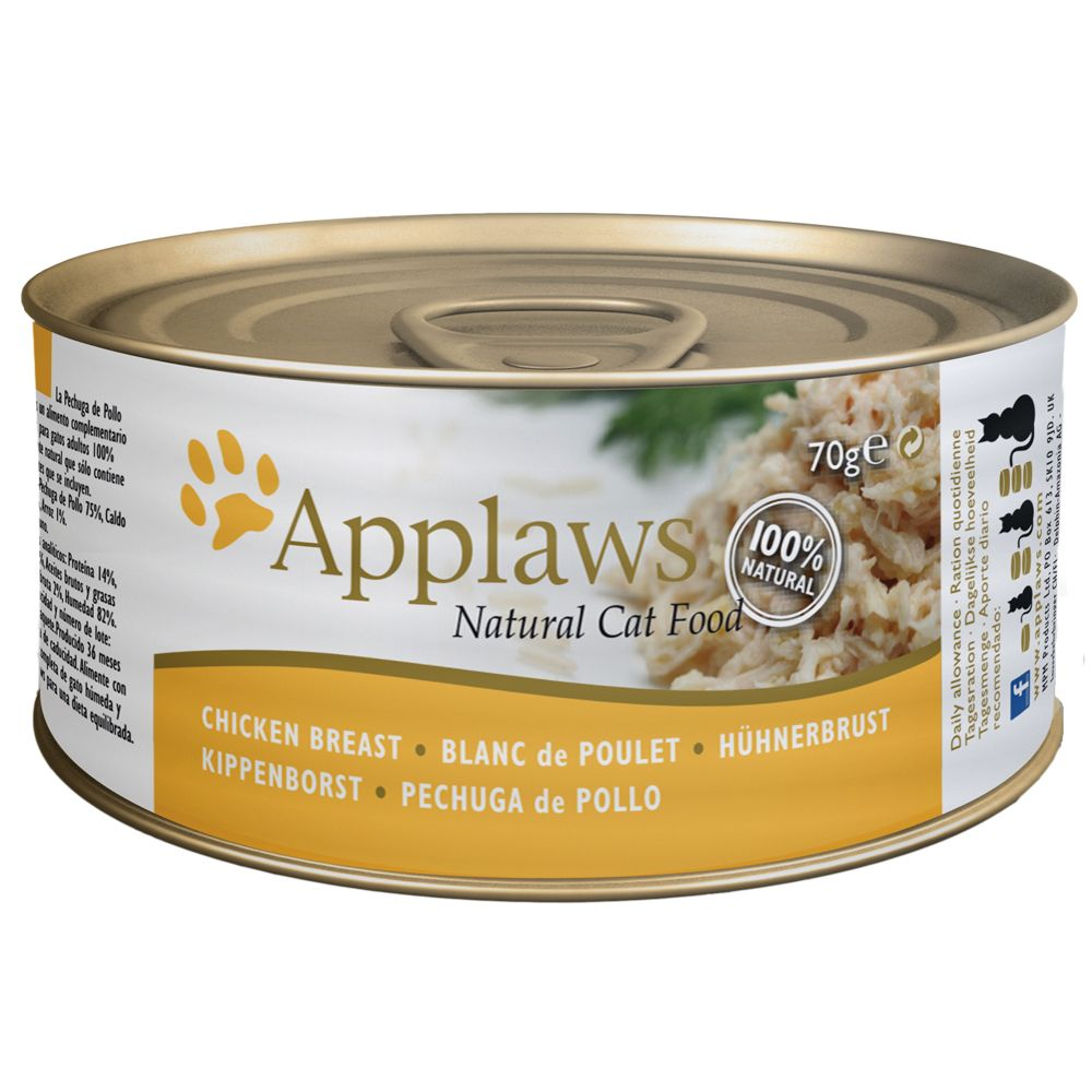 Applaws Cat Food 70g - Chicken in Broth - Chicken Breast with Cheese 6 x 70g