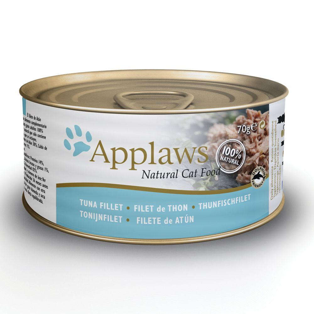 Tuna Fillet with Shrimp Applaws Wet Cat Food