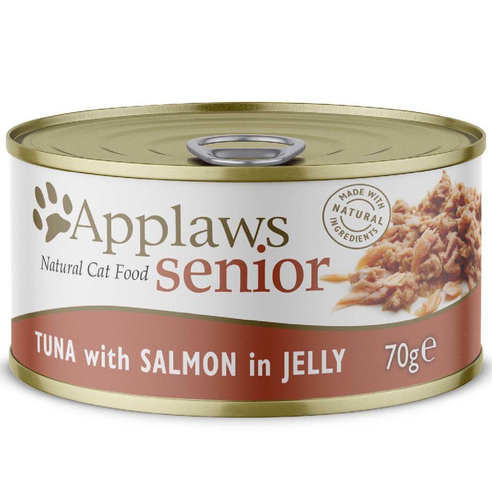 6x70g Senior thon, saumon en gelée Applaws - Nourriture pour Chat