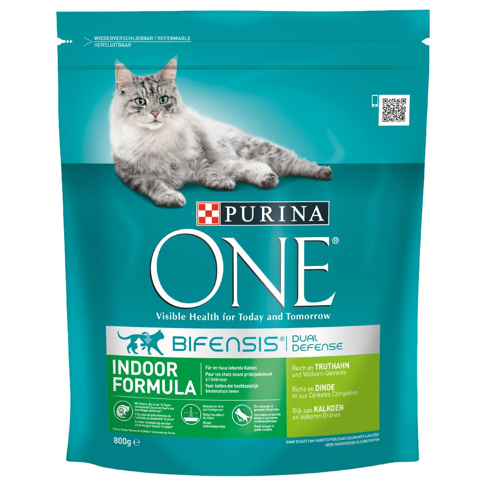 Purina ONE Indoor Turkey & Whole Grains Dry Cat Food - 1.5kg