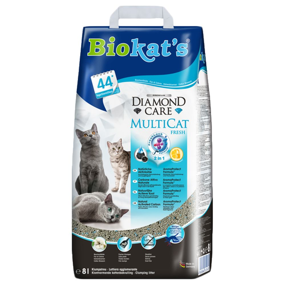 14l Biokats Diamond Care MultiCat Fresh Cat Litter