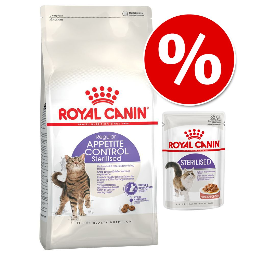 Stor påse Royal Canin + passande våtfoder till sparpris! Hair & Skin + Intense Beauty våtfoder