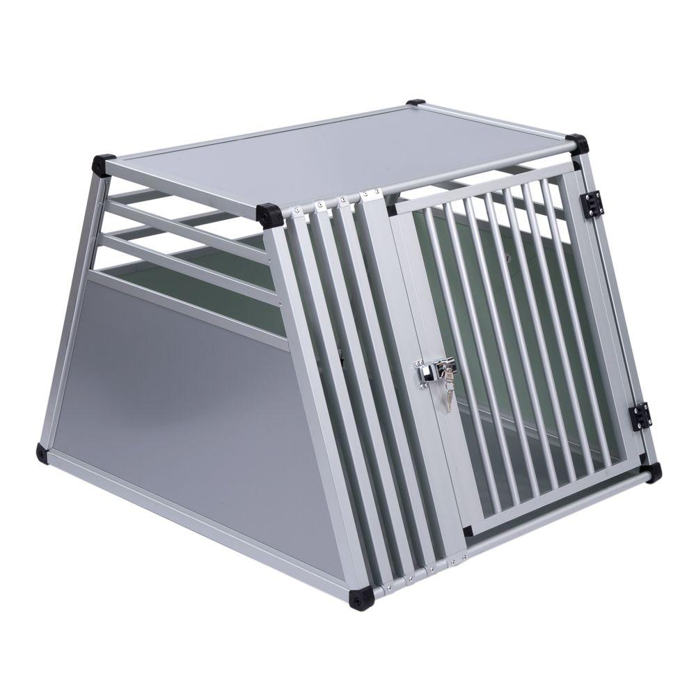 Autohundebox AluRide - Größe M: B 65 x T 92 x H 65 cm
