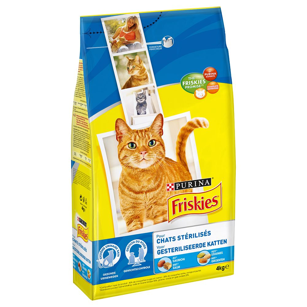 Friskies Sterilized Cats Salmon and Vegetables kattfoder Ekonomipack: 2 x 4 kg
