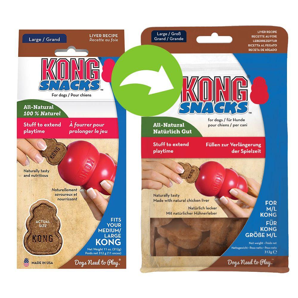 KONG Snacks Liver - L: 2 x 312 g (7 g / st)