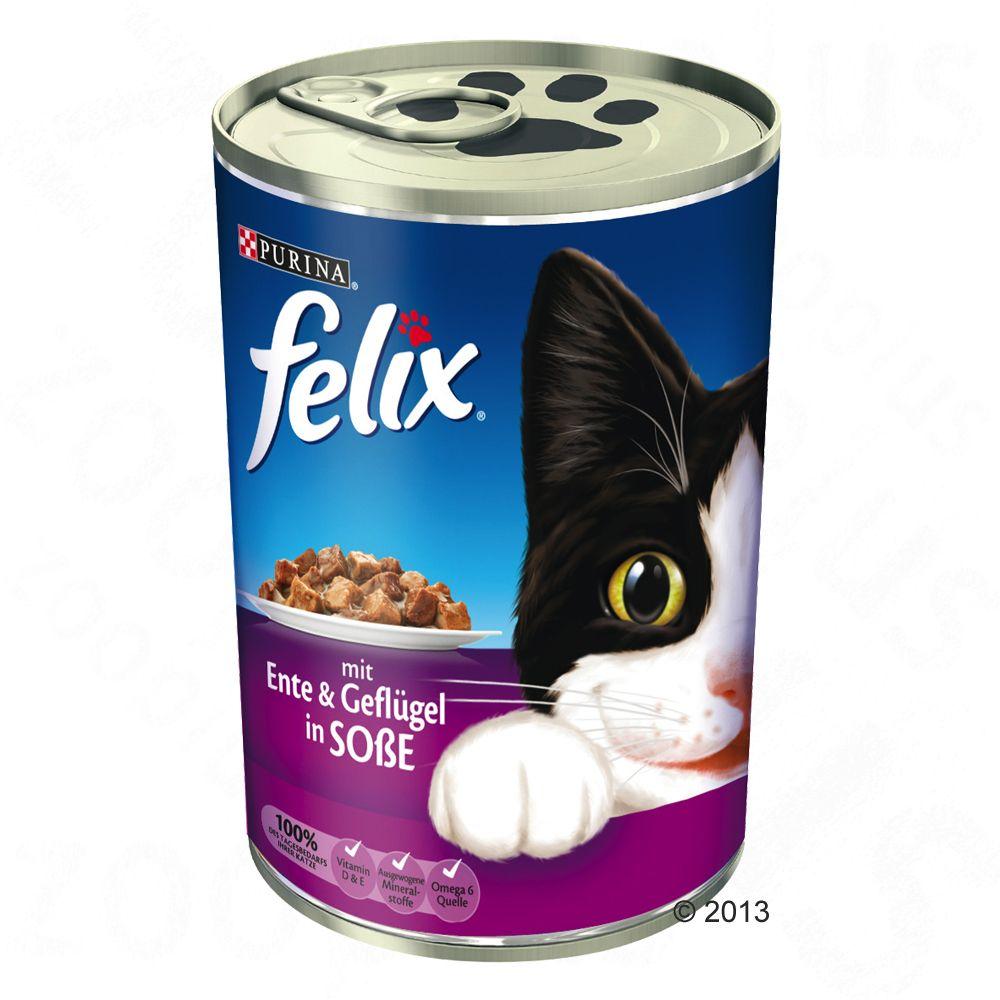 Felix Leckerbissen in Soße 6 x 400 g - Ente & Geflügel