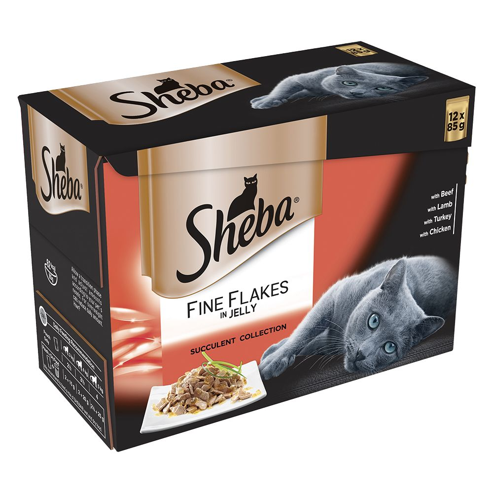 Sheba Pouches Fine Flakes 12 x 85g