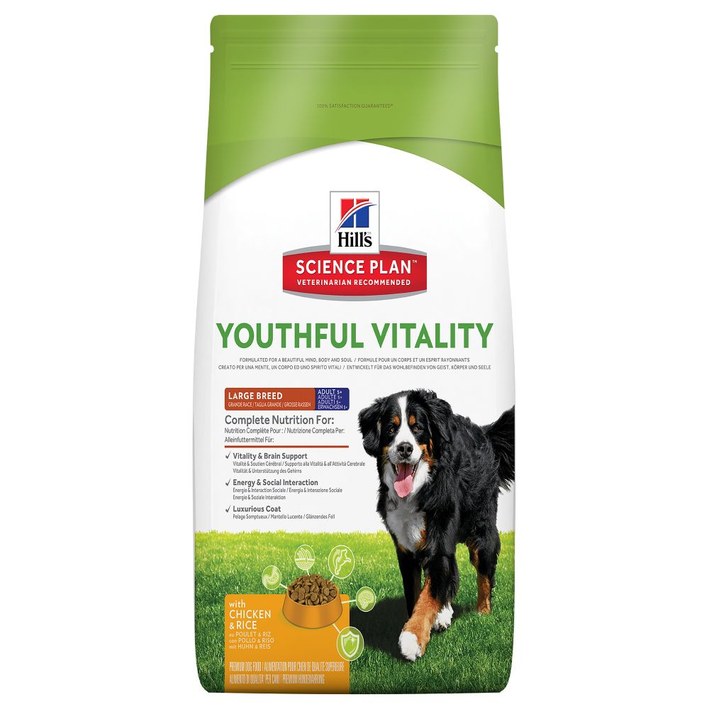 Hill's Science Plan Adult 5+ Youthful Vitality Large Breed with Chicken - 10kg