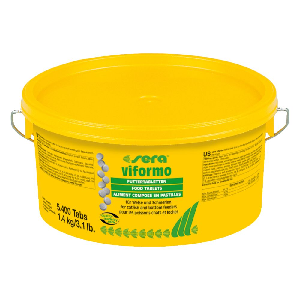 With Sera Viformo feeding tablets you get a reliable complete food for your bottom-feeding fish, such as catfish or loach. The tablets provide your fish with all t...