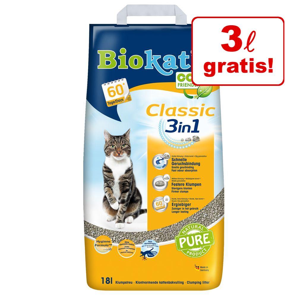15 + 3 liter på köpet! 18 liter Biokat's Classic/Fresh Classic