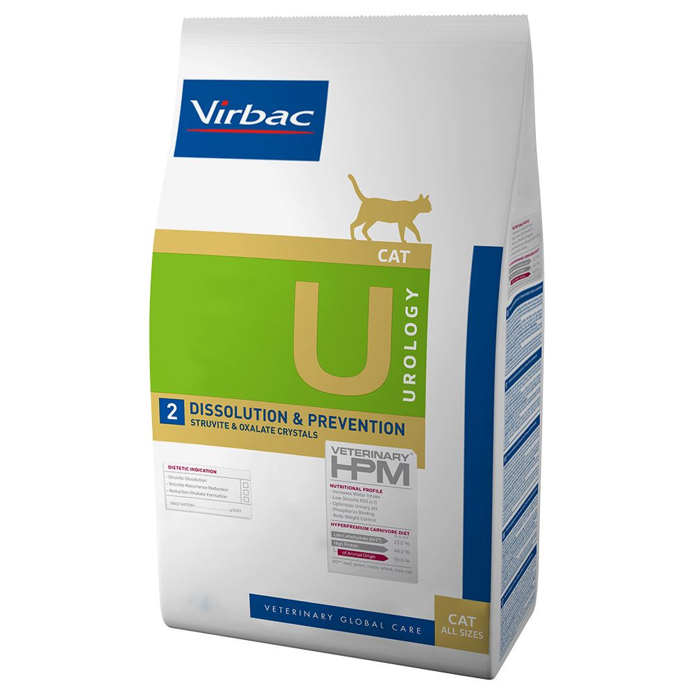 Veterinarians and nutritional scientists have specially developed this Virbac Vetcomplex HPM Feline Dissolution & Prevention for adult cats suffering from urin...