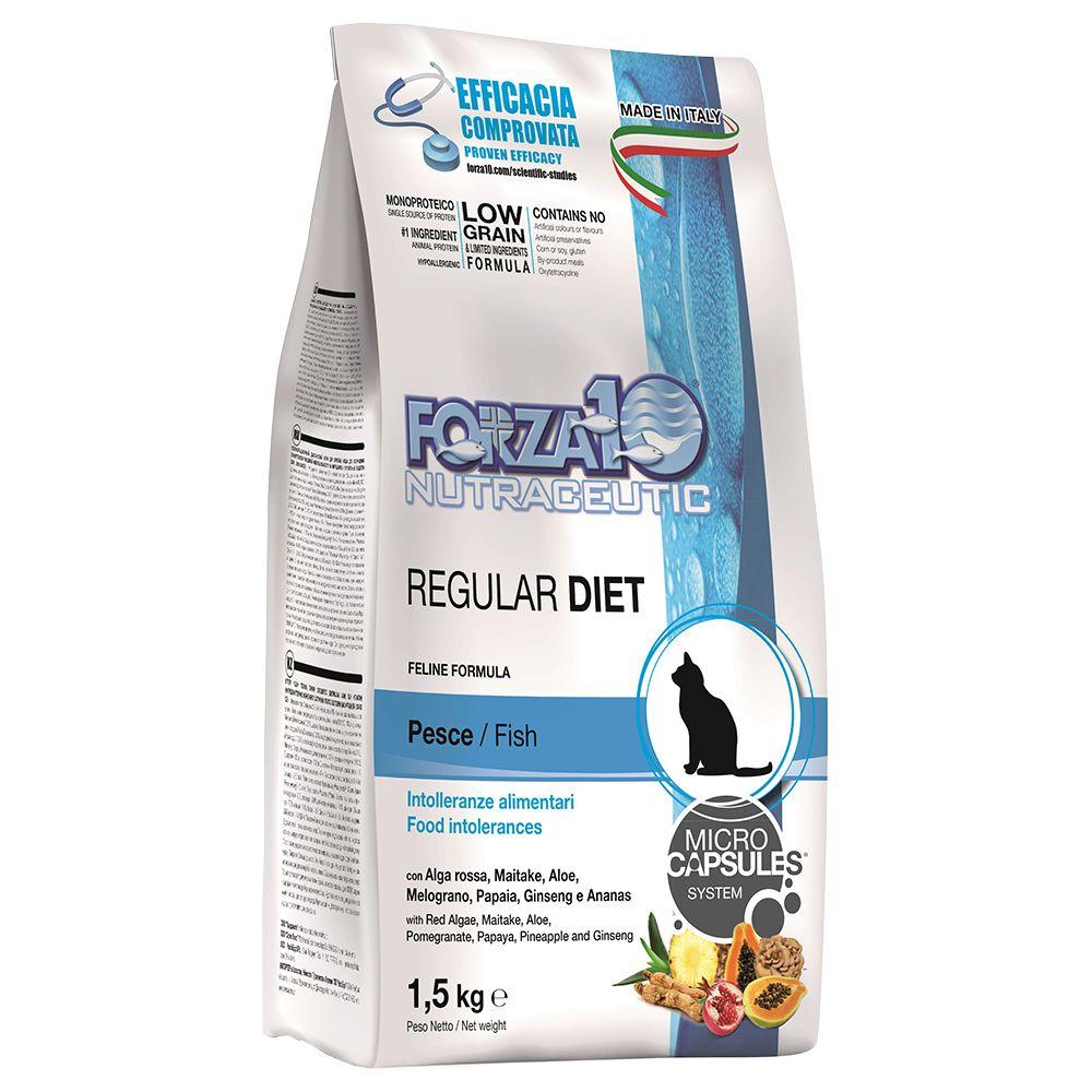 Forza 10 Regular Diet Fish kattfoder - Ekonomipack: 3 x 1,5 kg
