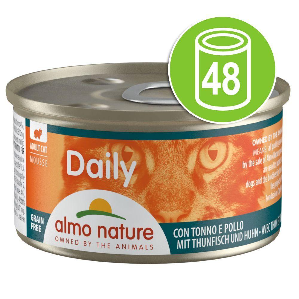 24x85g bouchées à la truite Almo Nature Daily Menu - Nourriture pour Chat