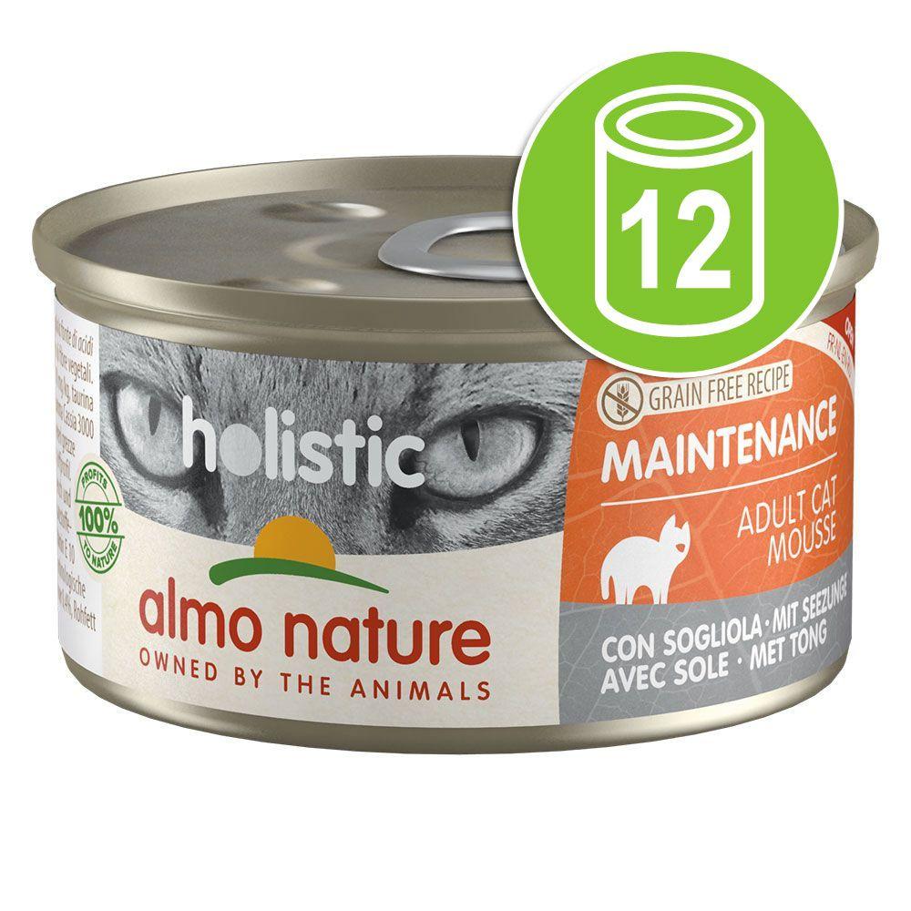 12x85g Maintenance jambon Almo Nature Holistic - Sachet pour chat