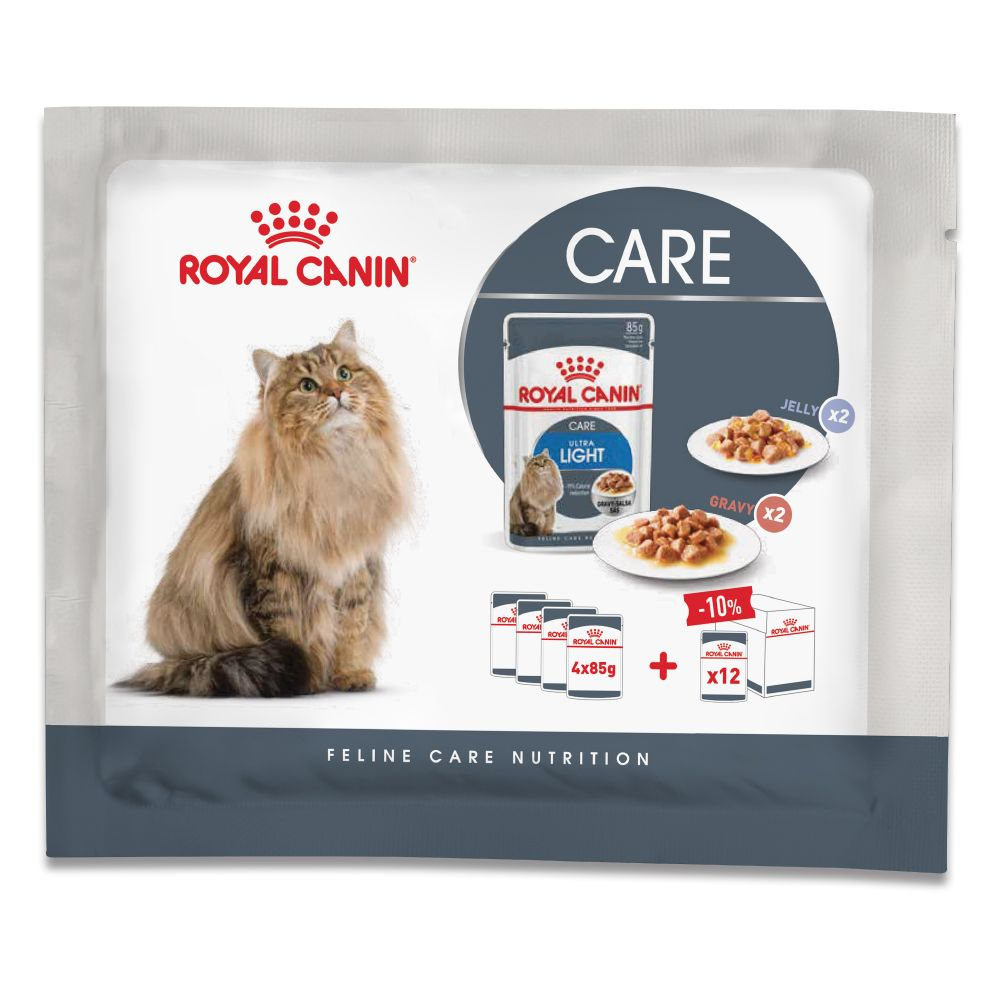 Royal Canin Ultra Light provpack - 4 x 85 g (2 olika sorter)