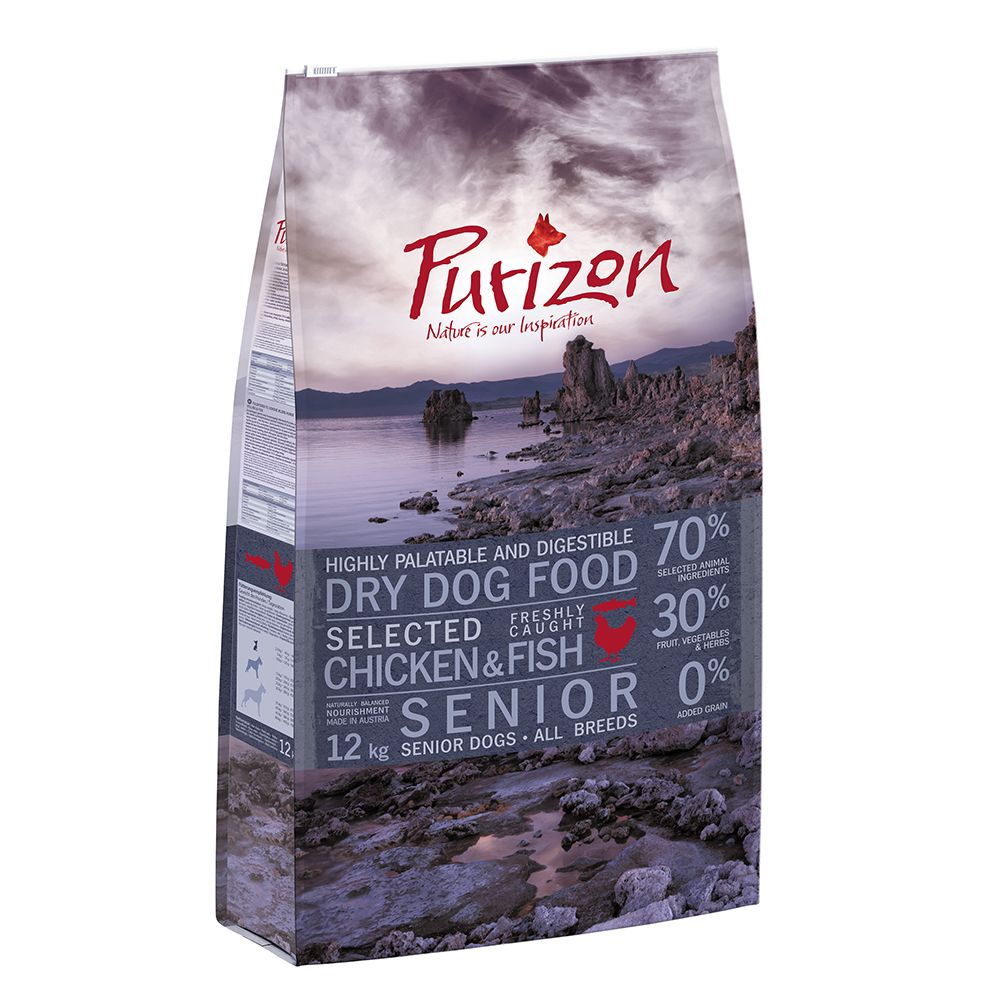 Chicken & Fish Senior Grain-Free Purizon Dry Dog Food