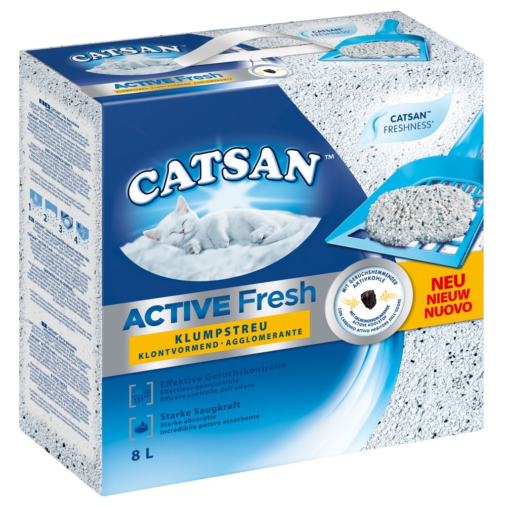 8l Active Fresh Clumping Litter Catsan Cat Litter