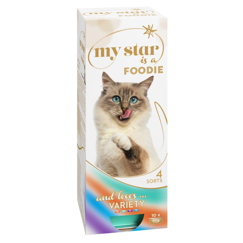 60 x 90g My Star Mousse Wet Cat Food Mega Pack