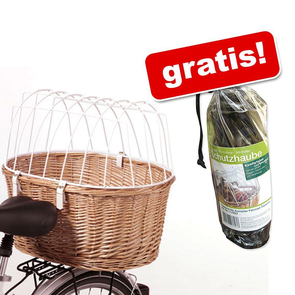 Aumüller cykelkorg med galler + ett skyddsöverdrag på köpet! - Cykelkorg L 53 x B 35 x H 43 cm + skyddshölje på köpet!