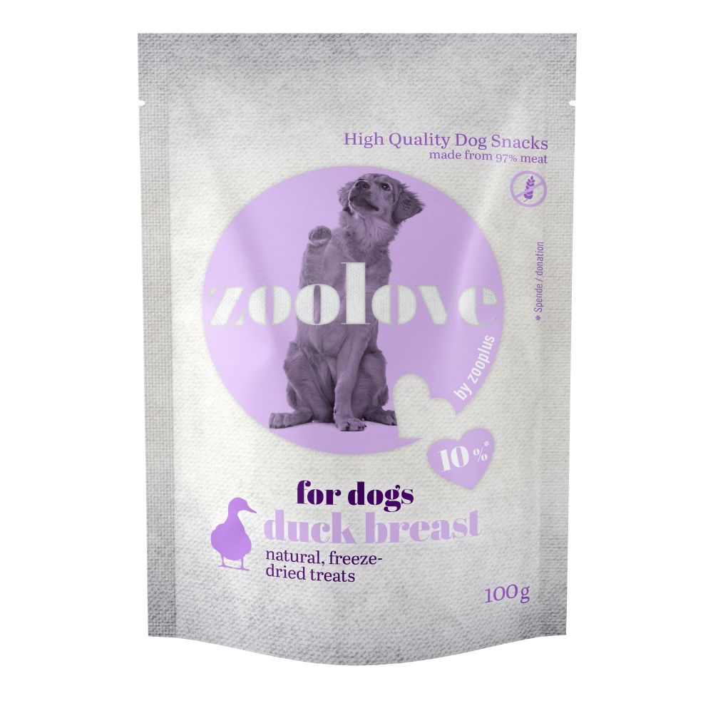 zoolove Freeze-dried Dog Treats - Duck Breast