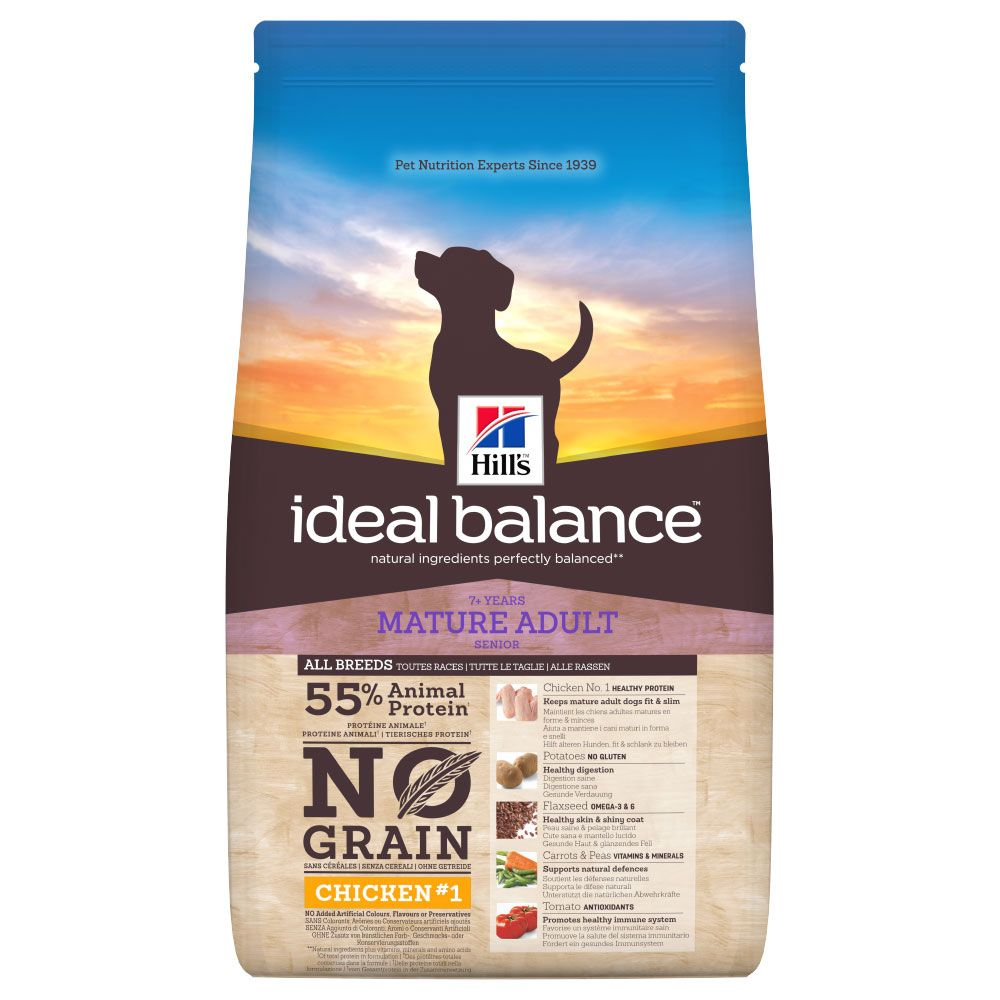 Chicken & Potato No Grain Mature Adult Ideal Balance Hill's Dry Dog Food