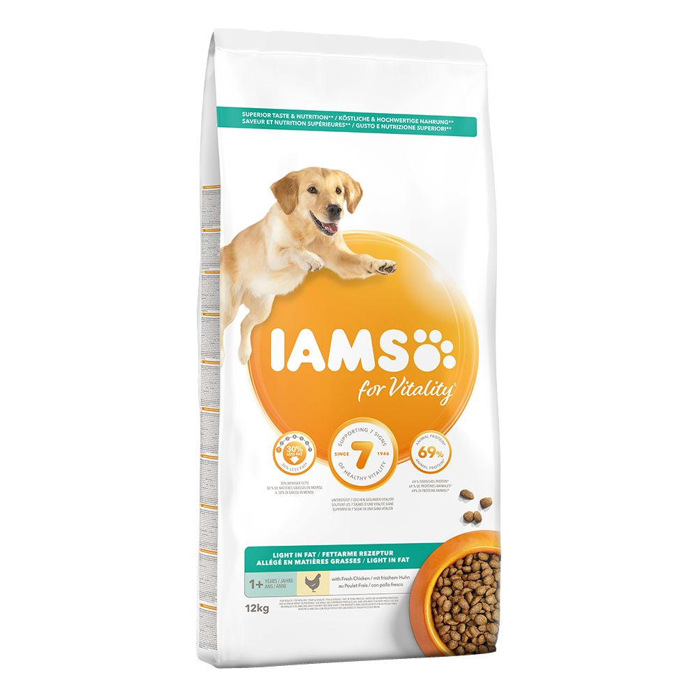 Iams Proactive Health Dry Dog Food Economy Packs 2 x 12kg - Small & Medium Dog - Rich Chicken