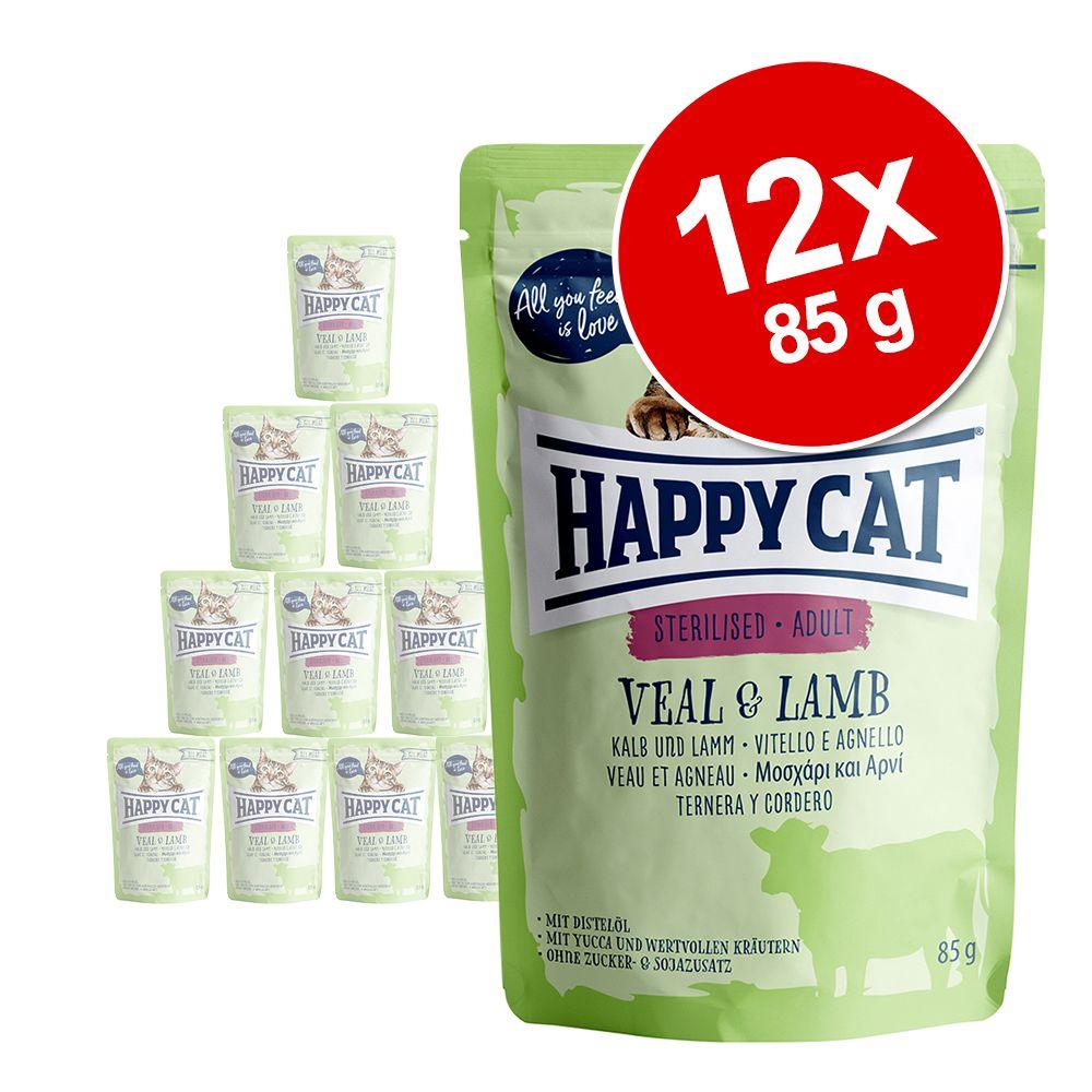 Happy Cat Pouch All Meat 12 x 85 g - Kyckling & anka