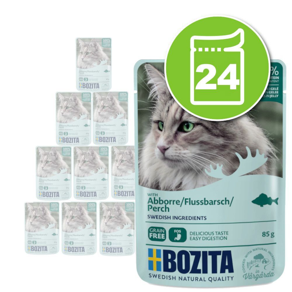 24x85g Bozita Bouchées en gelée élan - Pâtée pour chat