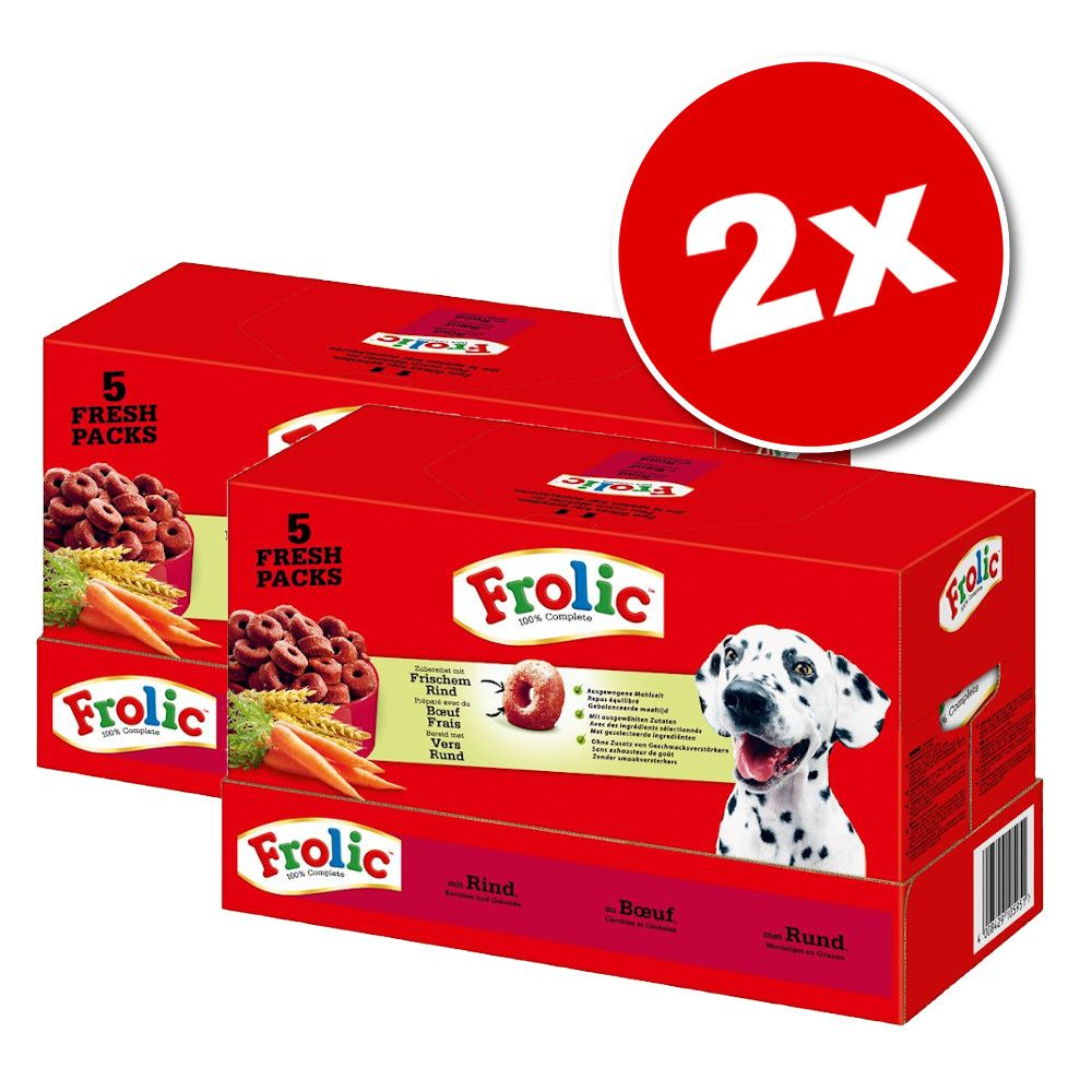 2x7,5kg Frolic Complete, volaille - Croquettes pour chien
