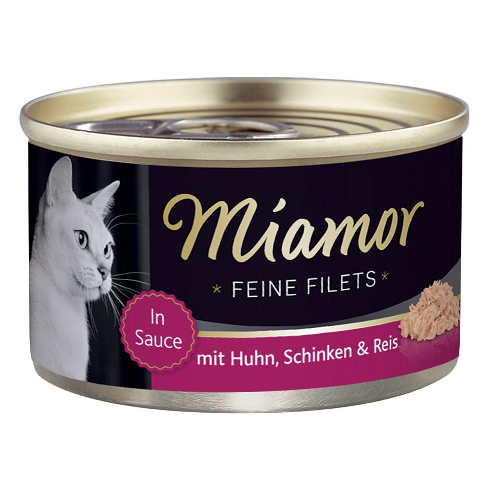 Miamor Fine Fillets 6 x 100g - Chicken, Ham & Rice in Jelly