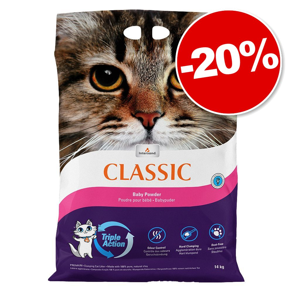 14kg senteur lavande Intersand Classic Litière pour chat: 20% de remise!