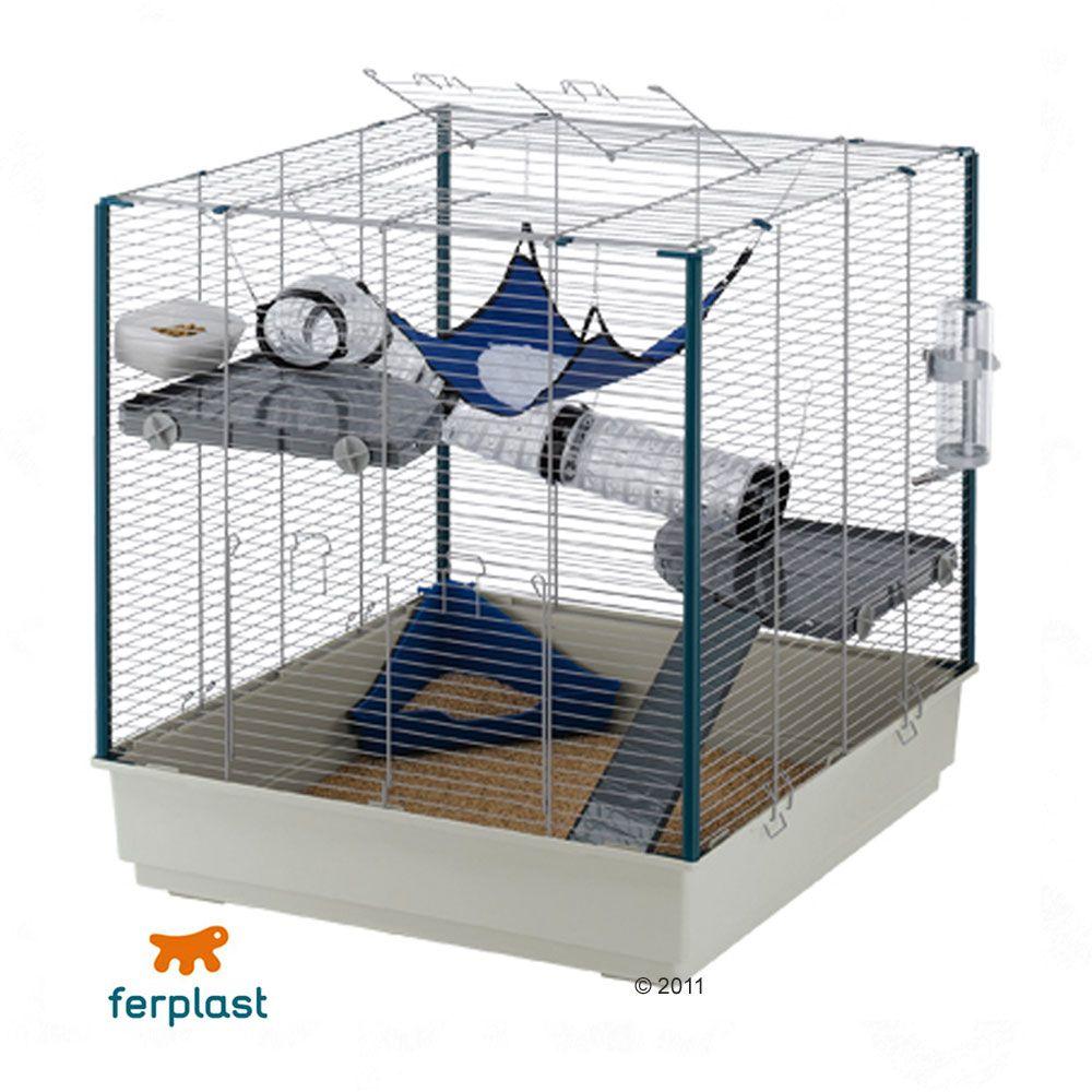Cage Furet XL pour rat et furet - L 80 x l 75 x H 86,5 cm (bac gris)