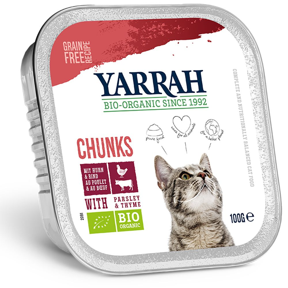 Chicken & Turkey with Aloe Vera Yarrah Organic Chunks in Gravy Wet Cat Food
