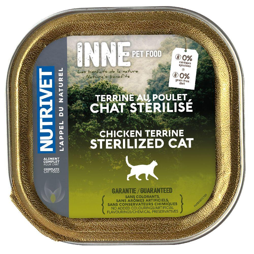 20x150g Nutrivet Inne Terrine Sterilized - Pâtée pour chat