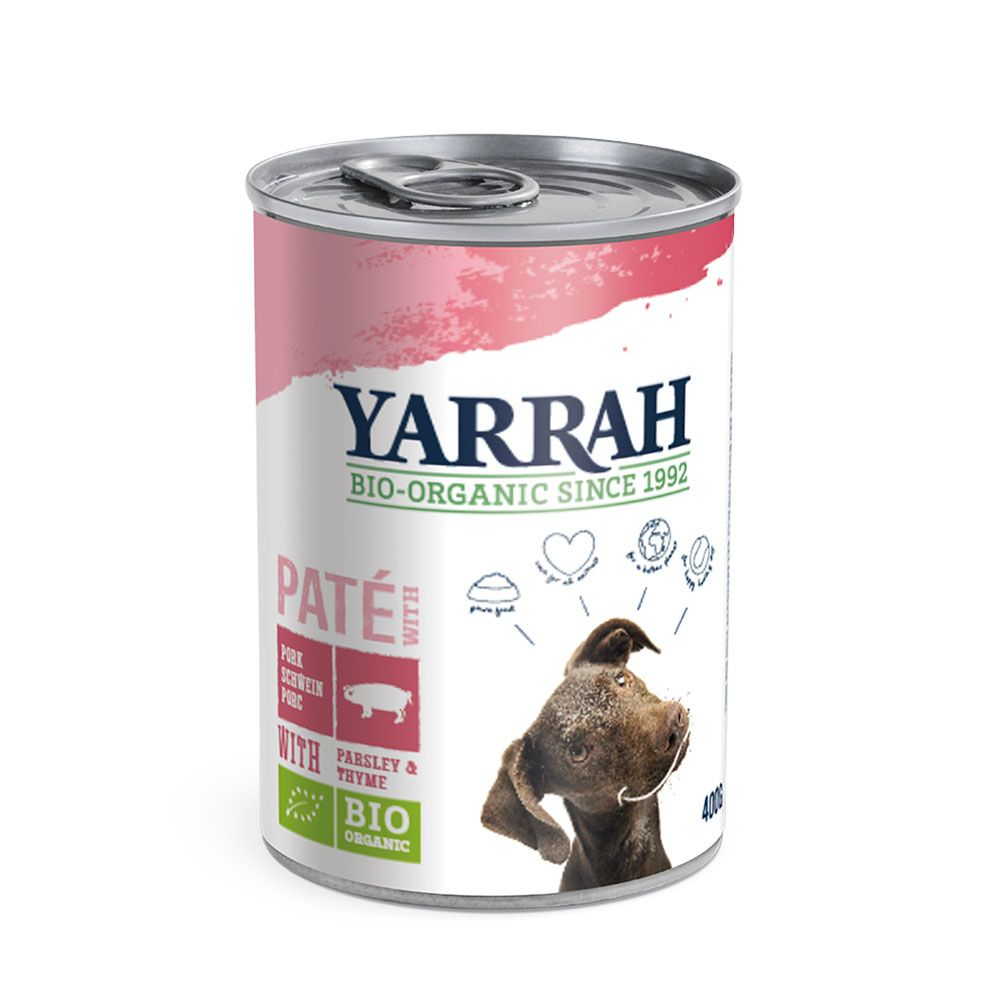 Pate with Pork Yarrah Organic Wet Dog Food