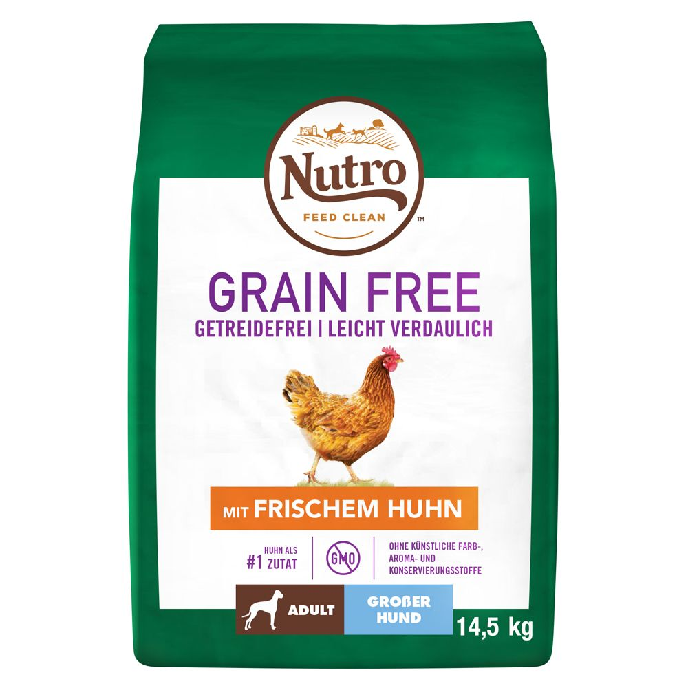 Nutro Dog Grain Free Adult Large Dog Chicken - Ekonomipack: 2 x 14,5 kg