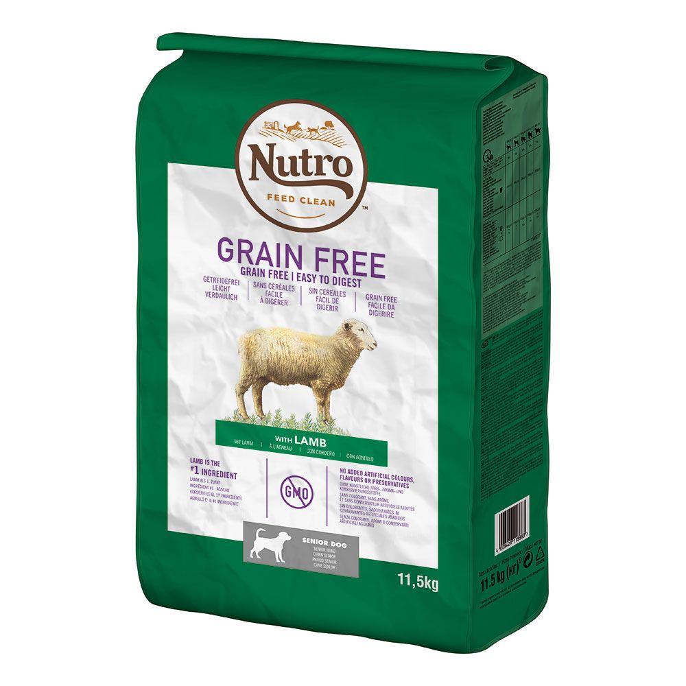 Nutro Dog Grain Free Senior Lamb - Ekonomipack: 2 x 11,5 kg