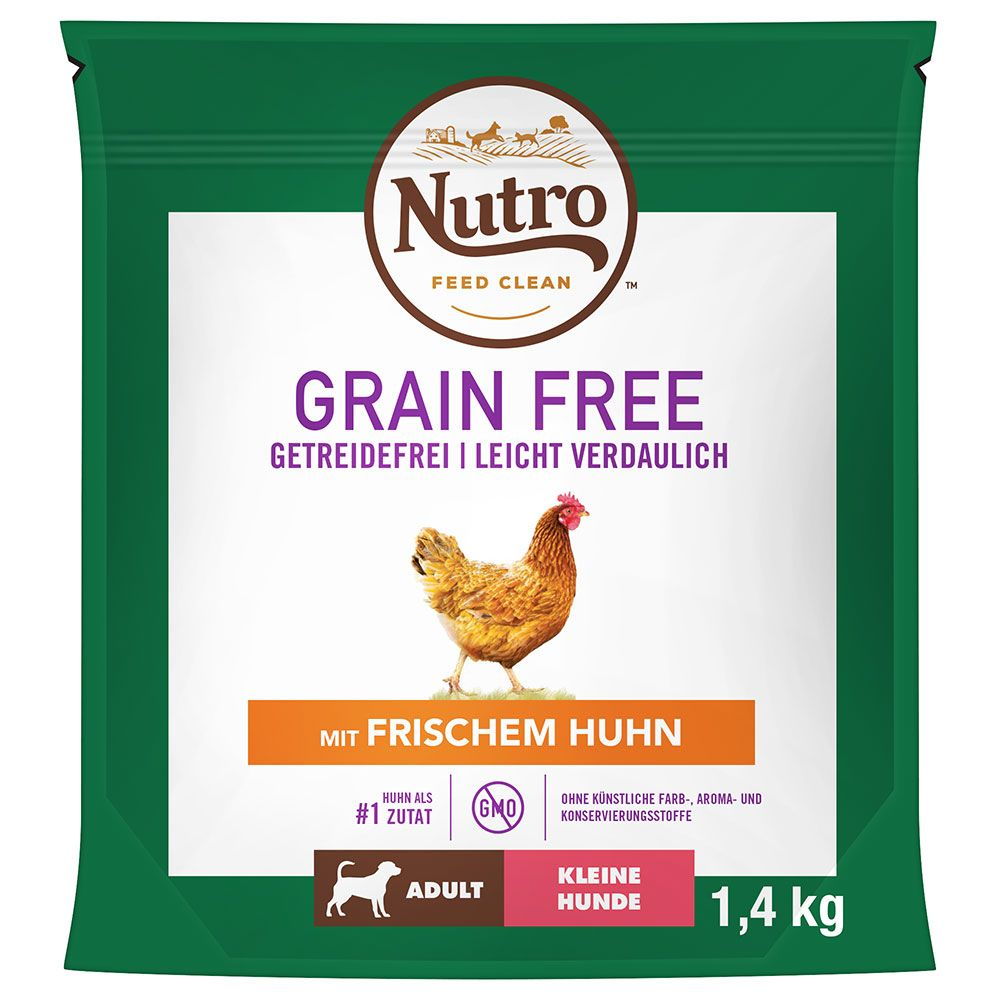 Nutro Grain Free Adult piščanec za male pse - Varčno pakiranje: 2 x 7 kg