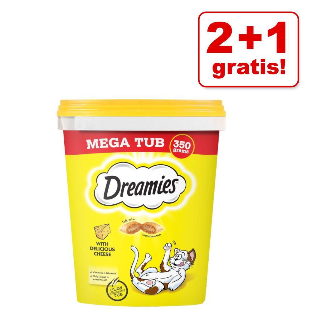 2 + 1 på köpet! 3 x Dreamies kattgodis - Megatub Kyckling (3 x 350 g)